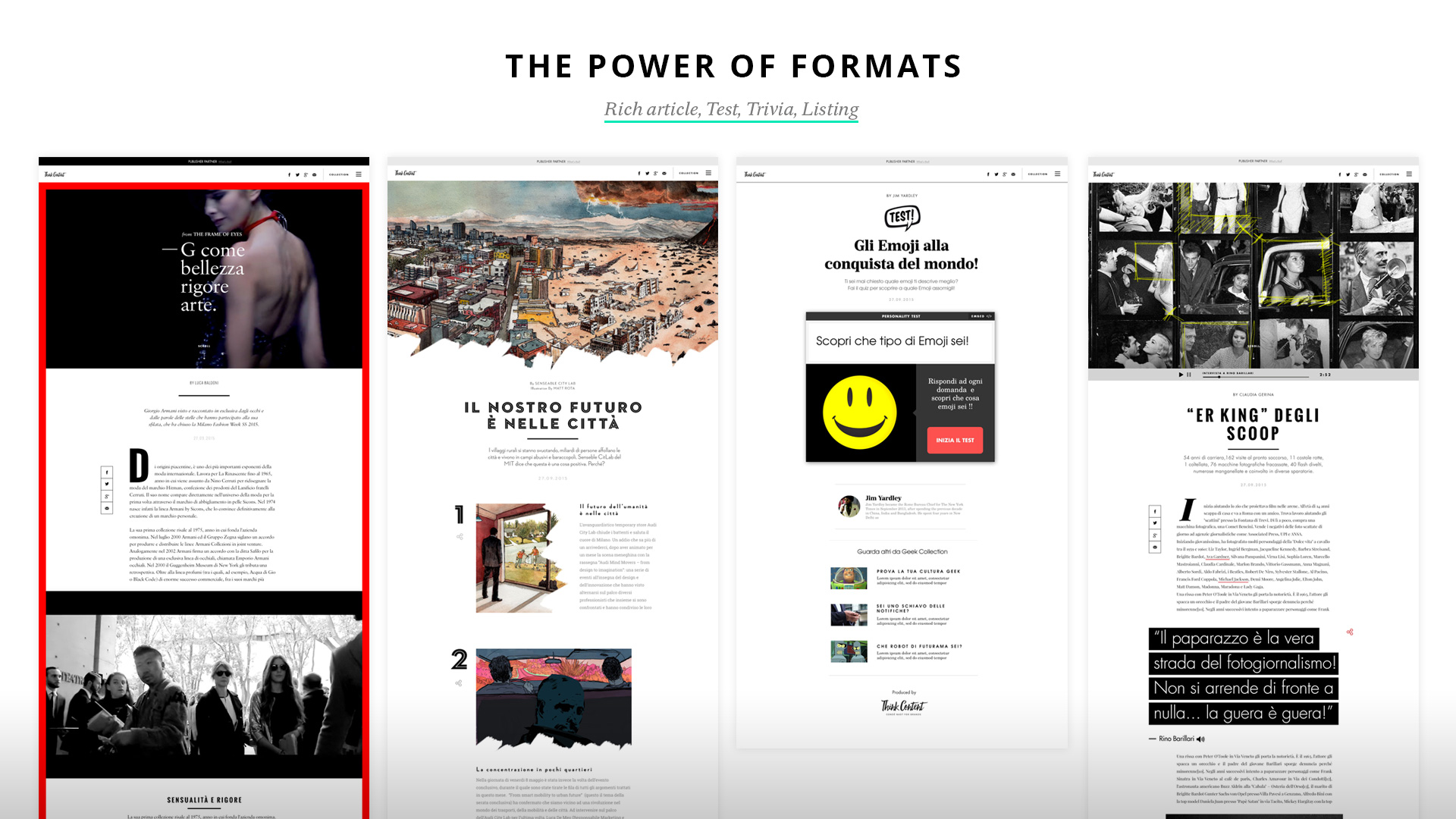 The power of formats