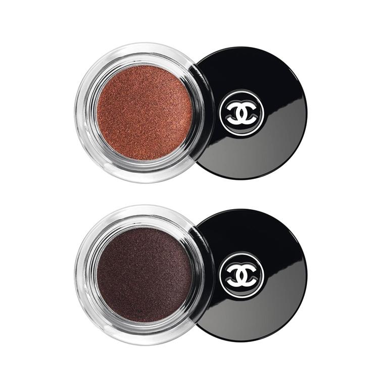 Illusion D'Ombre Long Wear Luminous Eyeshadow (Top) // Name: Rouge Brule   Illusion D'Ombre Velvet Long Wear Luminous Matte Eyeshadow (Bottom) // Name: Rouge Contrase