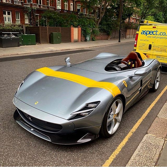 First Ferrari SP1 spotted in London. Now that's what we call high grade! #highgradeldn #highgradelondon