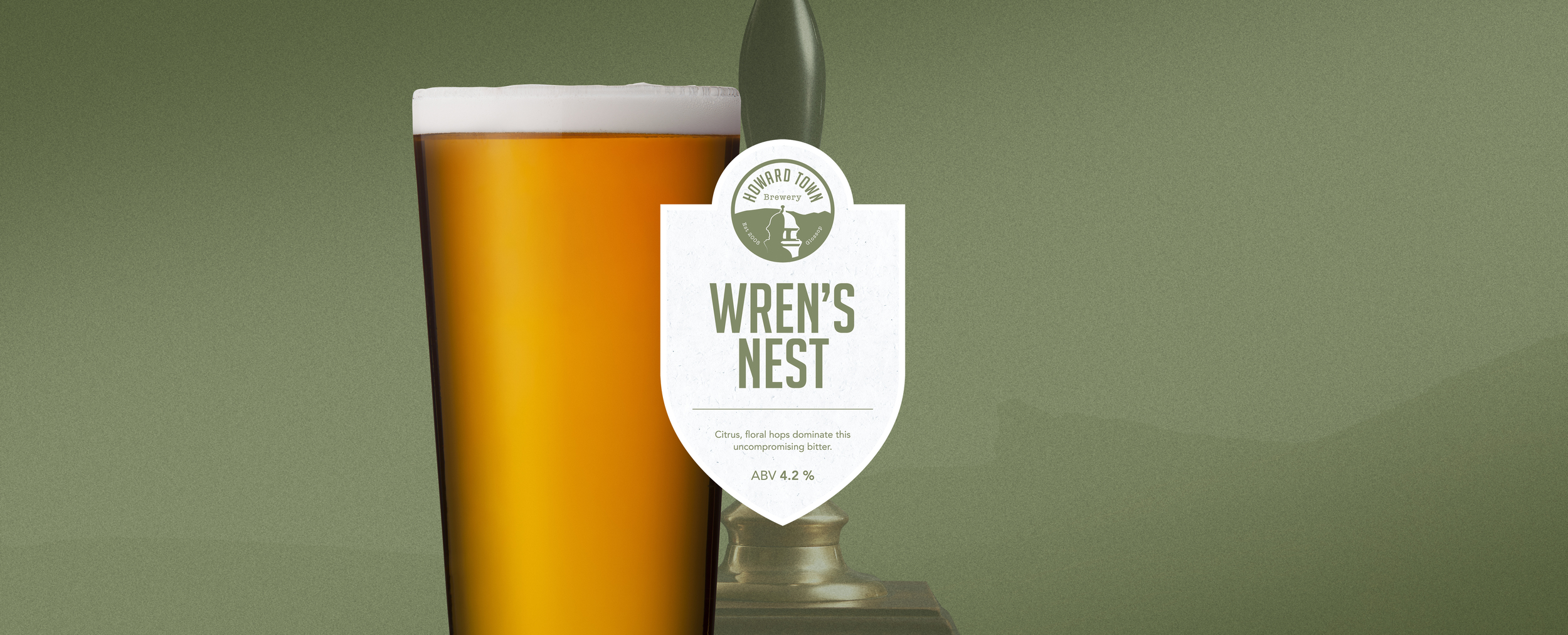 Citrus floral hops dominate this uncompromising bitter. Our best seller since 2007. 4.2%ABV