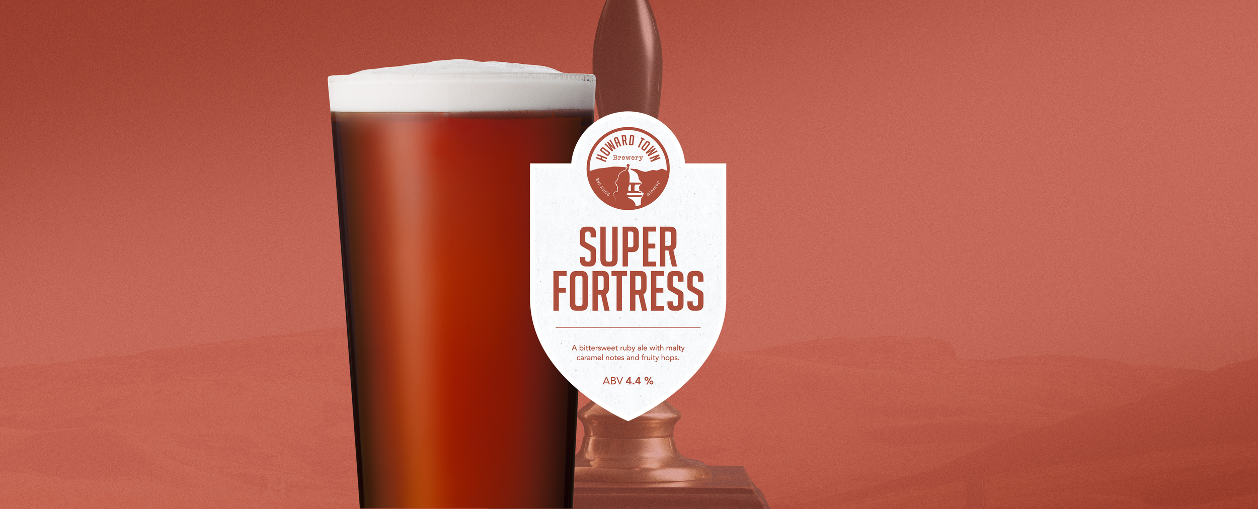 A bittersweet ruby ale with malty caramel notes and fruity hops. 4.4%ABV