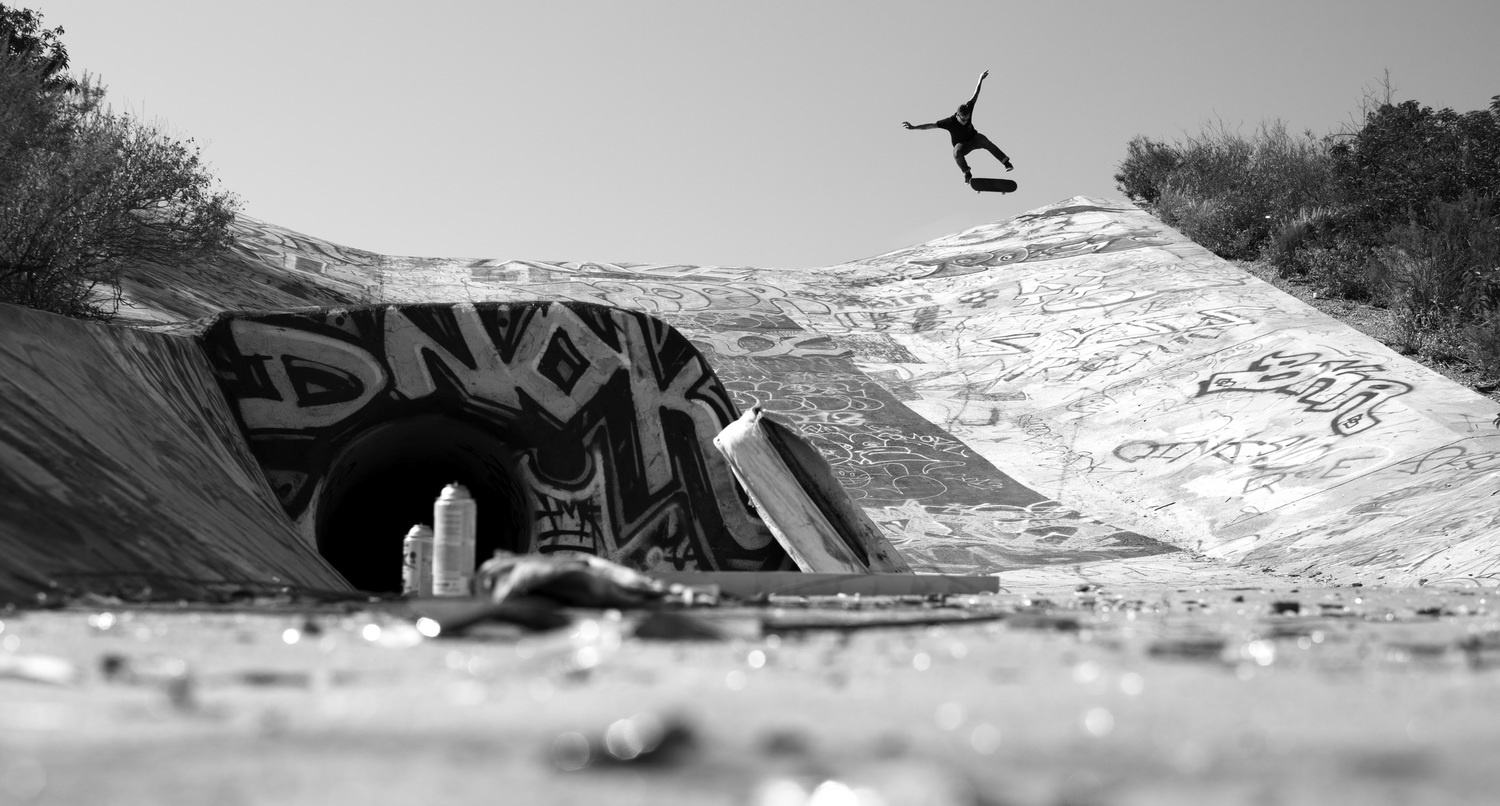 360 Flip at the Rowley Ditch.