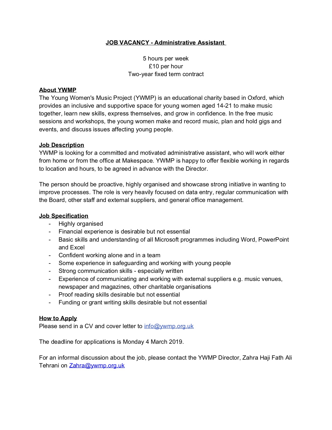 YWMP JOB VACANCY - Administrative Assistant.jpg