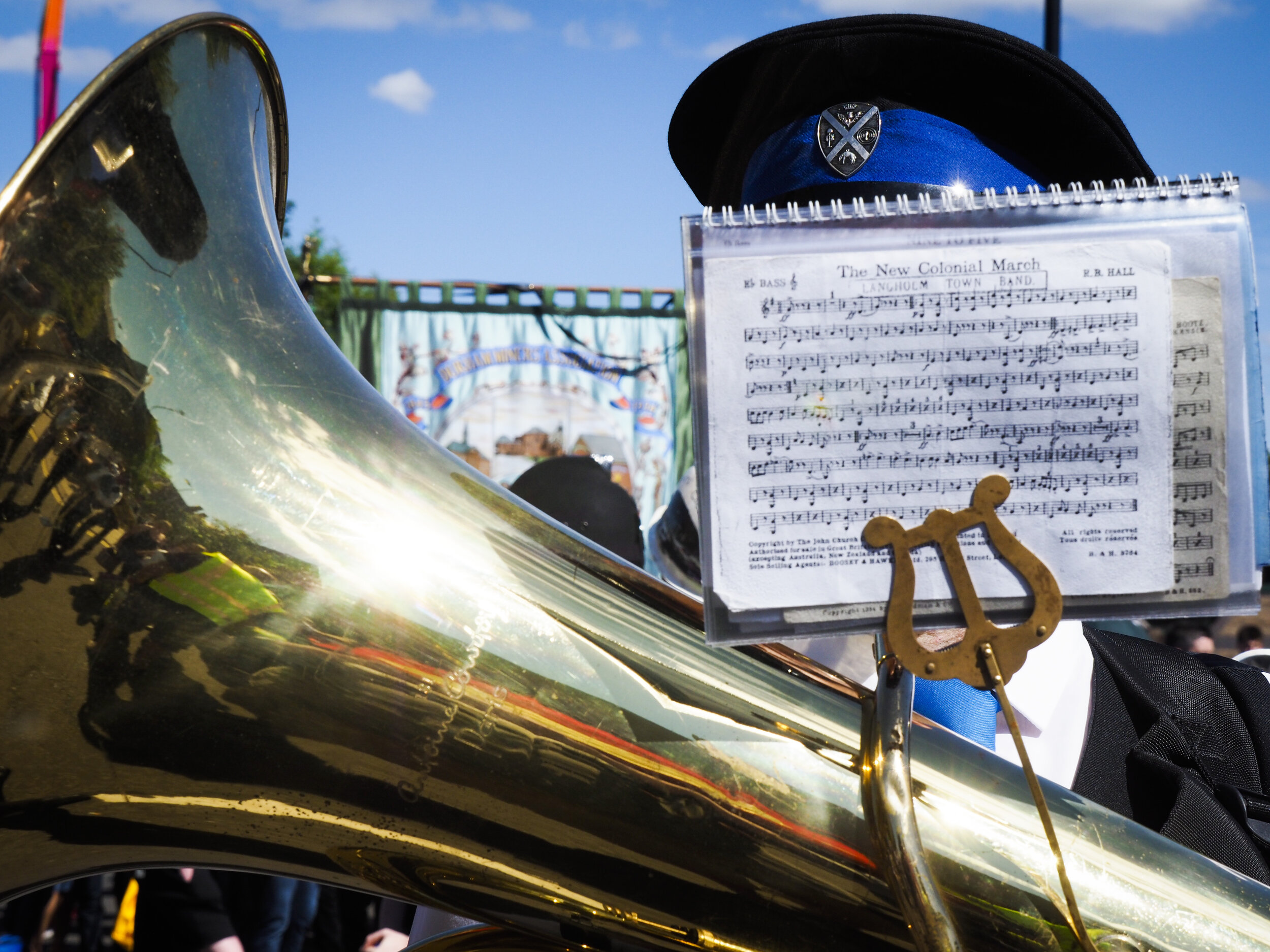 2017 Durham Miners Gala. 8/7 2017.Personal EditThese are some photos  I shot at the Durham Miners Gala last year. I was on commission for a couple of trade unions, but once I got my commitments to them out of the way, I went off to have a bit of fun and shoot some pic's for myself. These photos were taken on the racecourse where the speeches take place, and I've often found that the entrance to the field after the speeches a good place to take pictures. Everyon's a bit euphoric after the speeches, and often a bit tipsy too. It's a bit of a bottleneck, and it's usually chaotically good natured, as the bands line up to play their way back to their busesPhoto©: Mark Pinder+44 (0)7768 211174pinder.photo@gmail.com