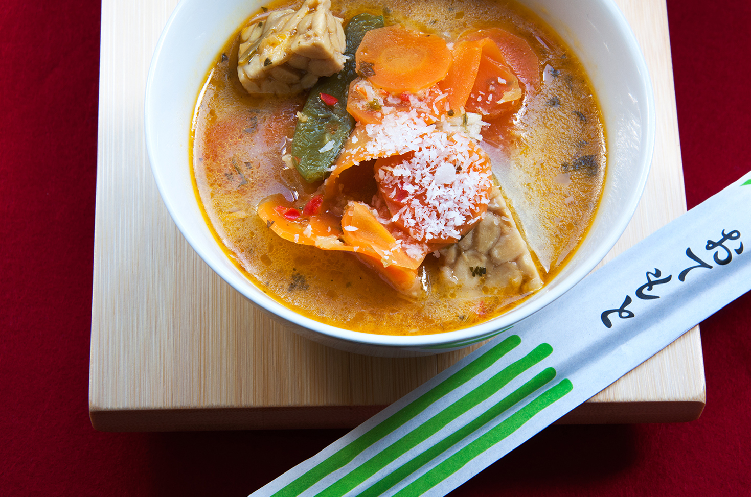 asian coconut soup with tempeh