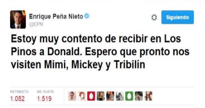 El error de Enrique Peña Nieto