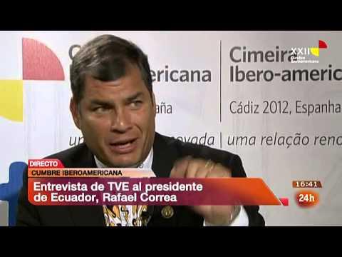 Agencia de eventos tuatú - Rafael Correa en Cumbre Iberoamericana