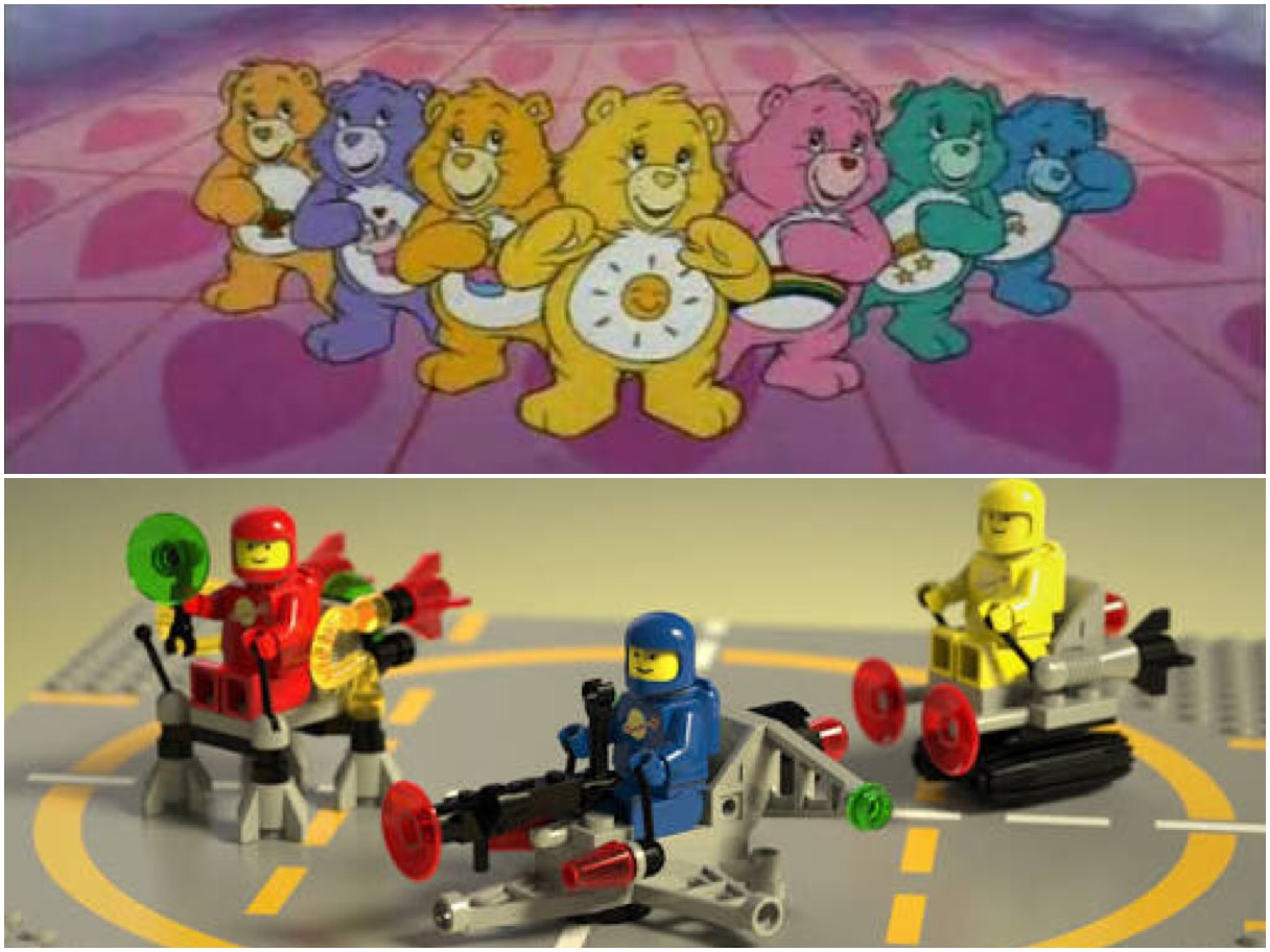 care bears & lego were the bomb in 1985