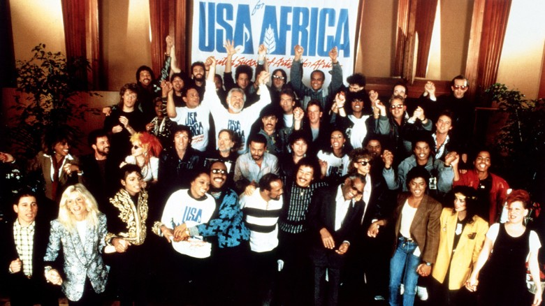 usa for africa - recording session, 21 January 1985