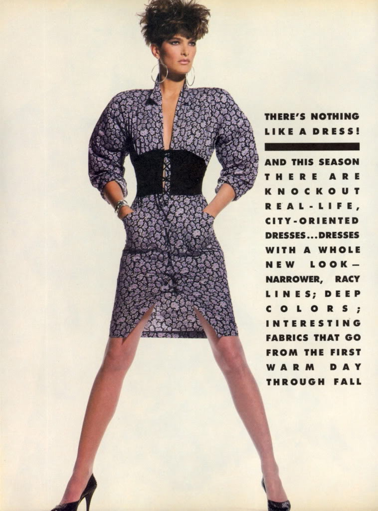 Vogue (US) April 1985 | There's Nothing Like A Dress 01.jpg
