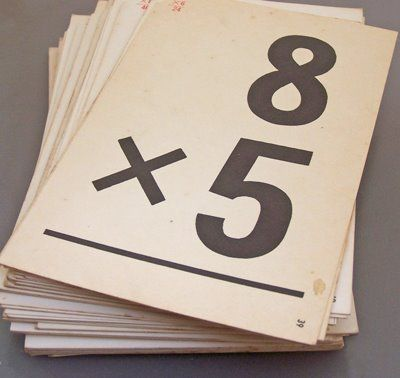 Times Table Flash Cards