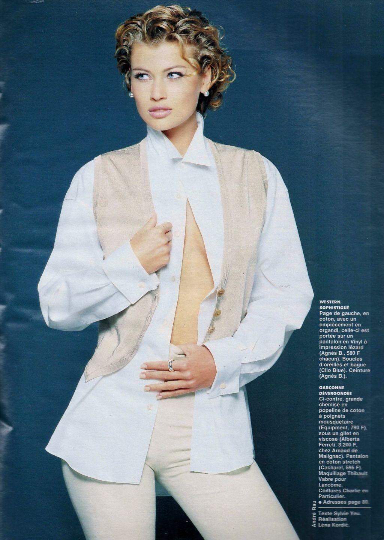 Elle (France) February 1992 | Daniela Pestova 06.jpg