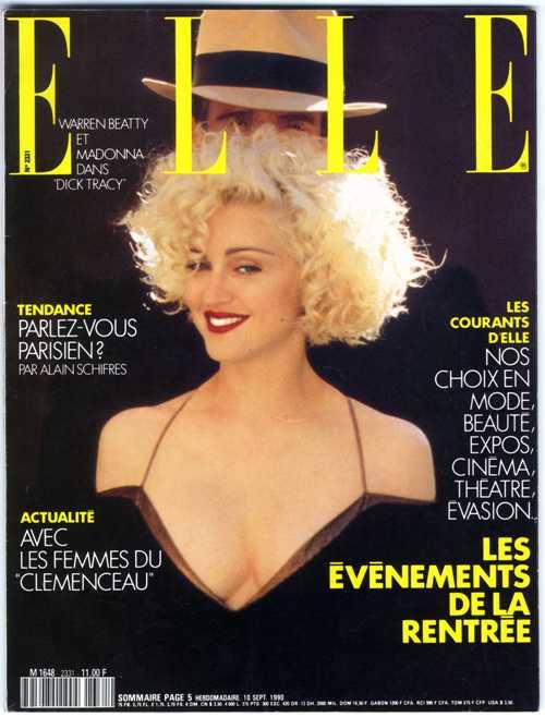 Elle (France) May 1990 | Madonna