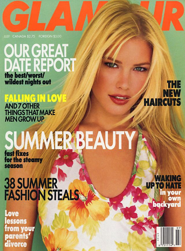 Glamour (US) July 1995 | Valeria Mazza