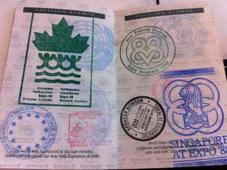 World Expo 88   Passport