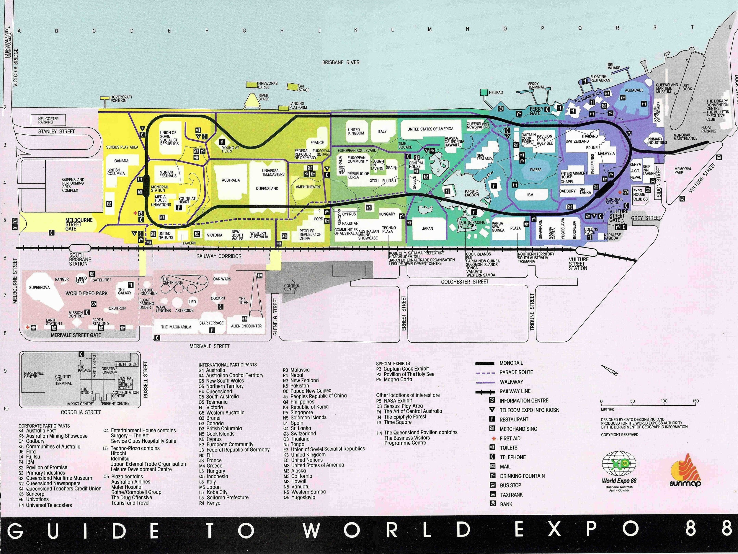 World Expo 88   Site Map