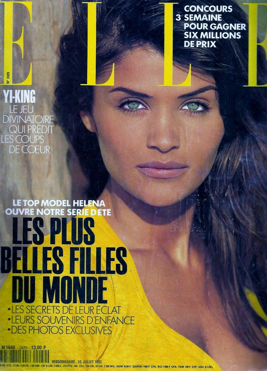 Elle (France) July 1992 | Helena Christensen