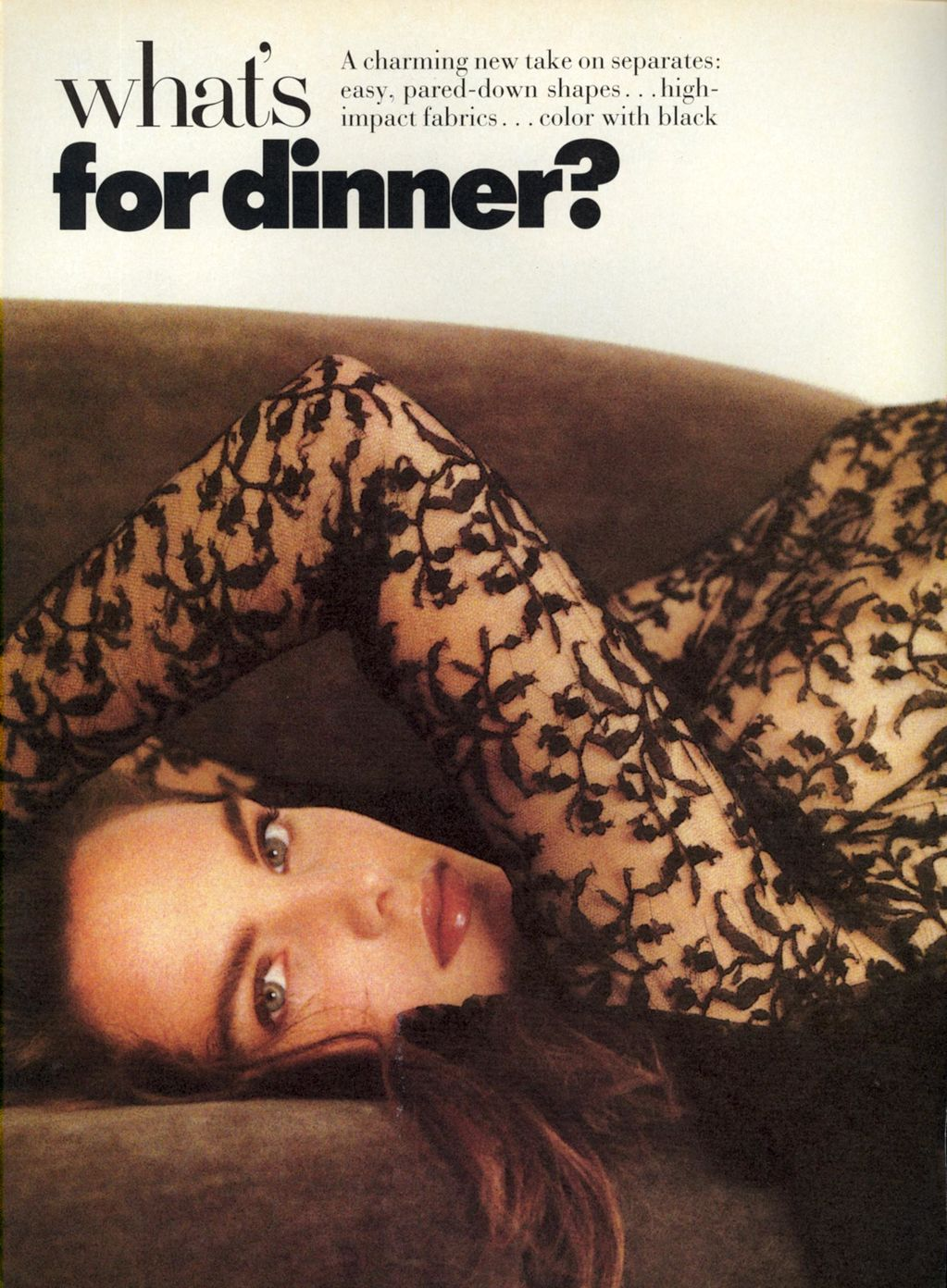 Vogue (US) October 1988 | What's For Dinner 01.jpg