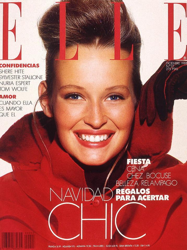Elle (Spain) December 1988 | Estelle Hallyday