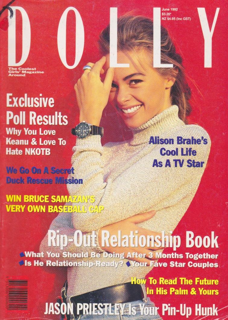 Dolly Magazine (Australia) June 1992 | Alison Brahe