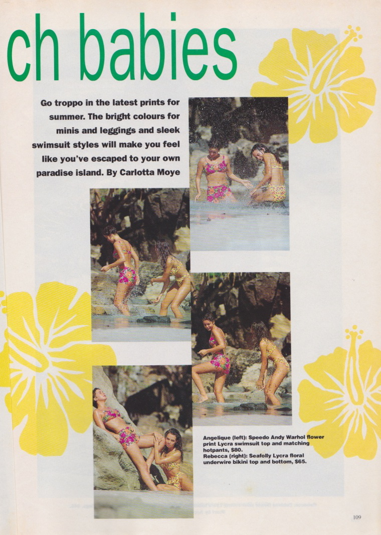Dolly Magazine (Australia) October 1991 | Beach Babes 02.jpeg