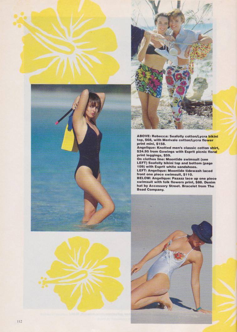 Dolly Magazine (Australia) October 1991 | Beach Babes 05.jpeg
