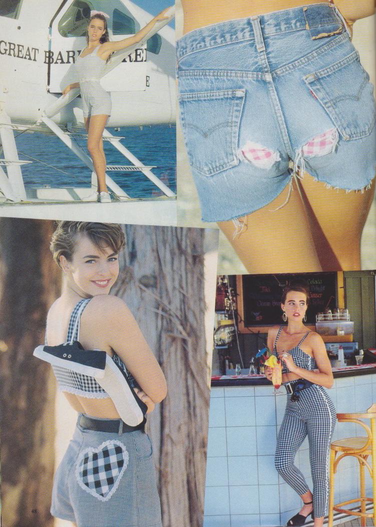 Dolly Magazine (Australia) October 1991 | Gingham 03.jpeg