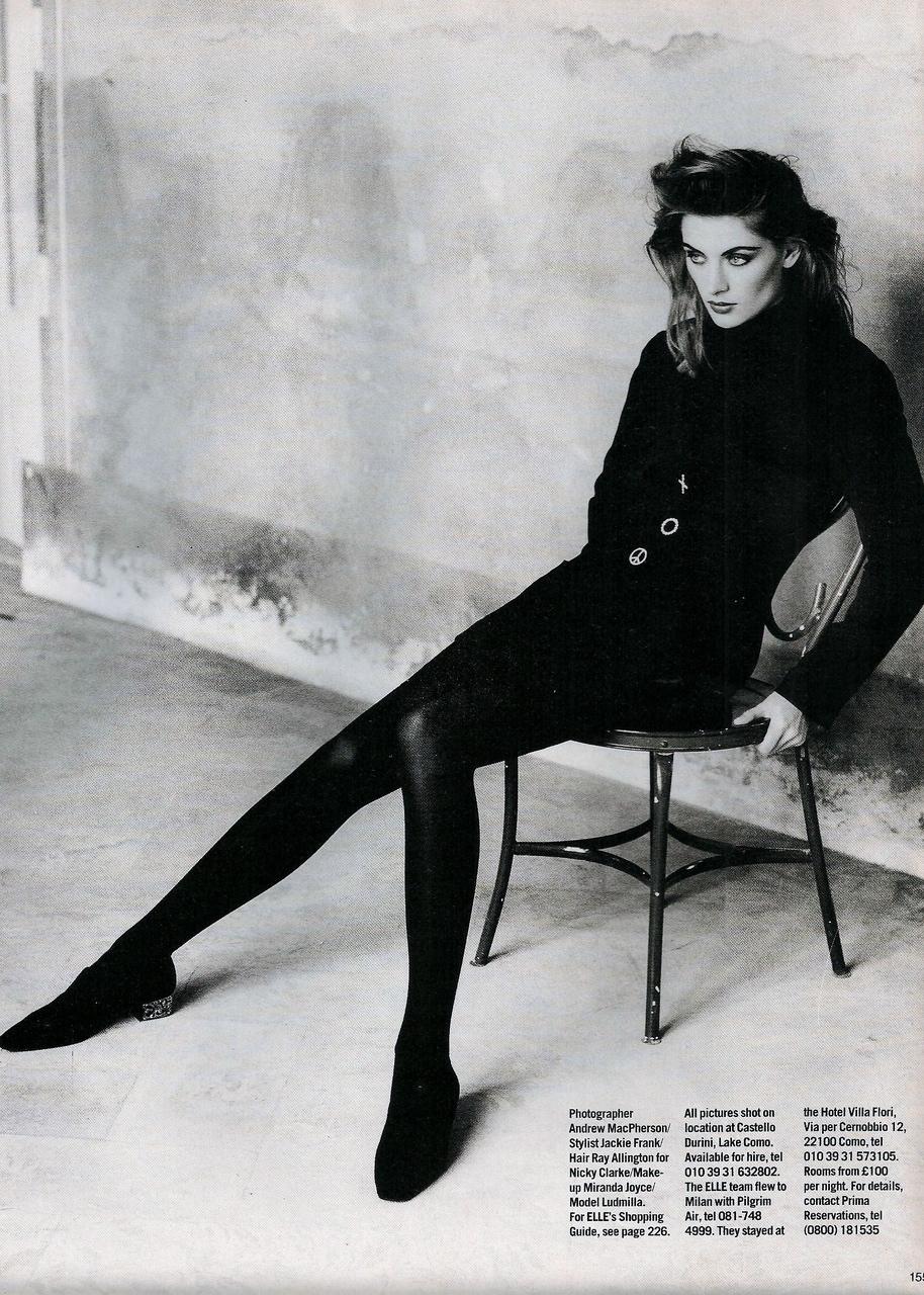 Elle (UK) October 1991 | Ludmilla 10.jpg