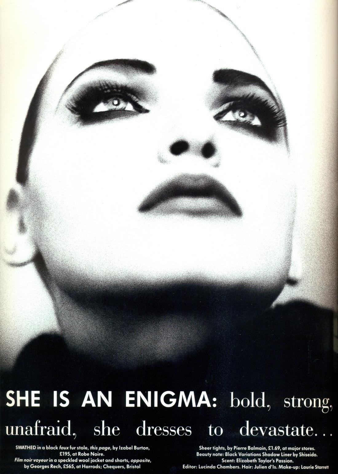 Vogue (UK) October 1991 | Nadja Auermann by Ellen Von Unwerth 01.jpg