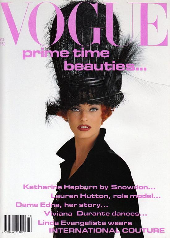 Vogue (UK) October 1991 | Linda Evangelista