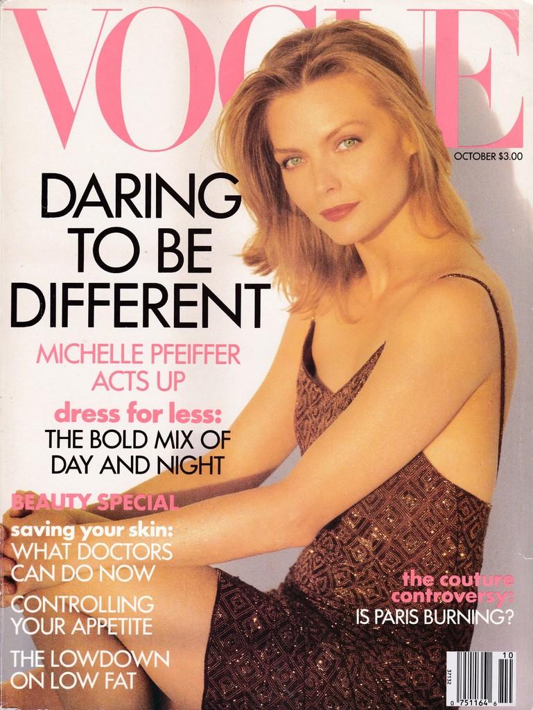 Vogue (US) October 1991 | Michelle Pfeiffer