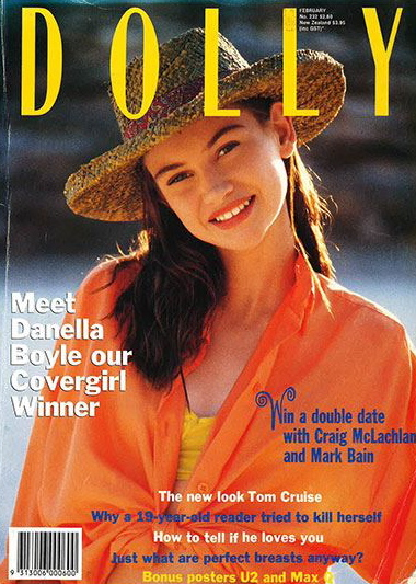 Dolly Covergirl Competition 1990 | Winner Danella Boyle