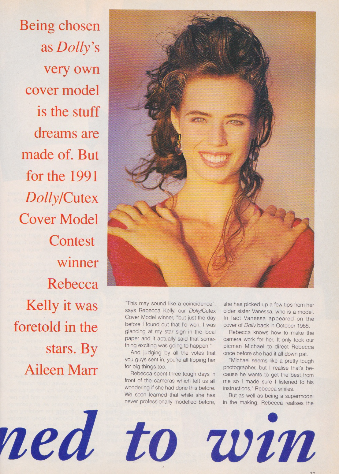 Dolly Covergirl Competition | 1991 Winner Rebecca Kelly 02.jpeg