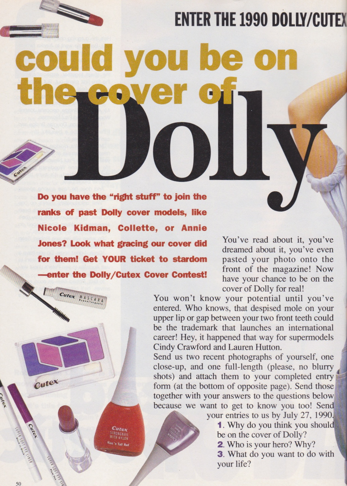 Dolly Covergirl Competition | 1990 Entry Form 01.jpeg