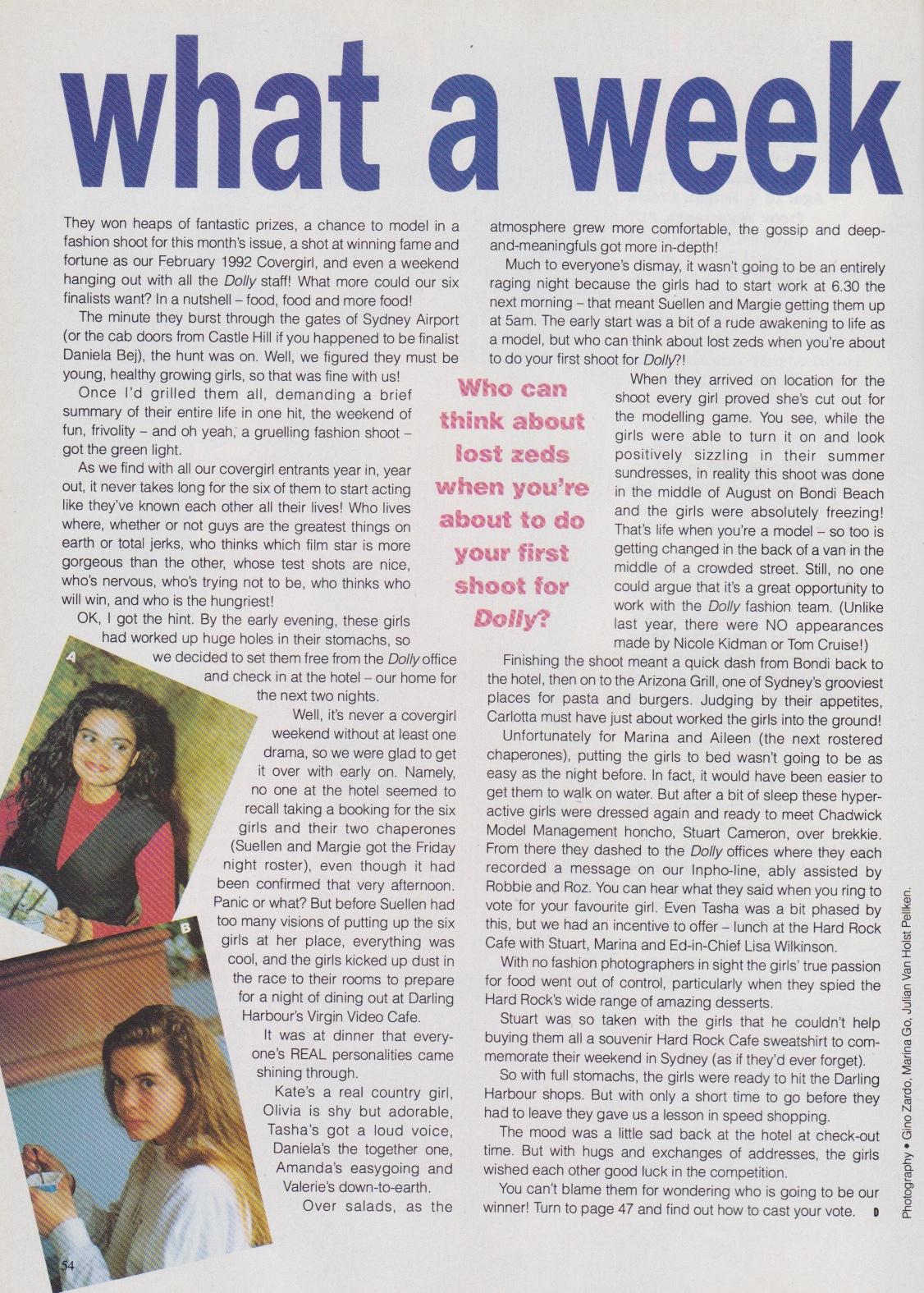 Dolly Covergirl Competition | 1991 Finalists Article 01.jpeg