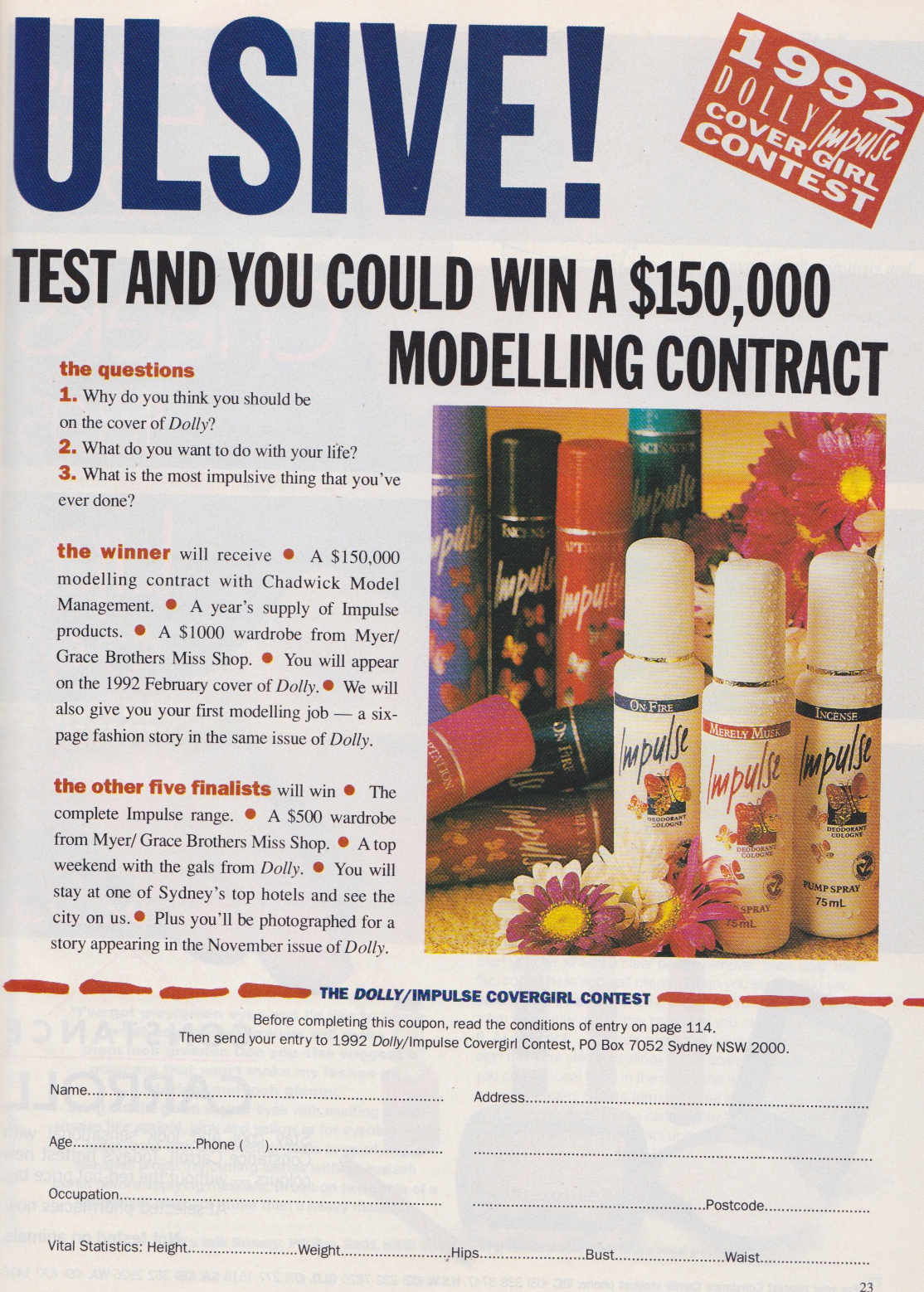 Dolly Covergirl Competition | 1991 Entry Form 02.jpeg