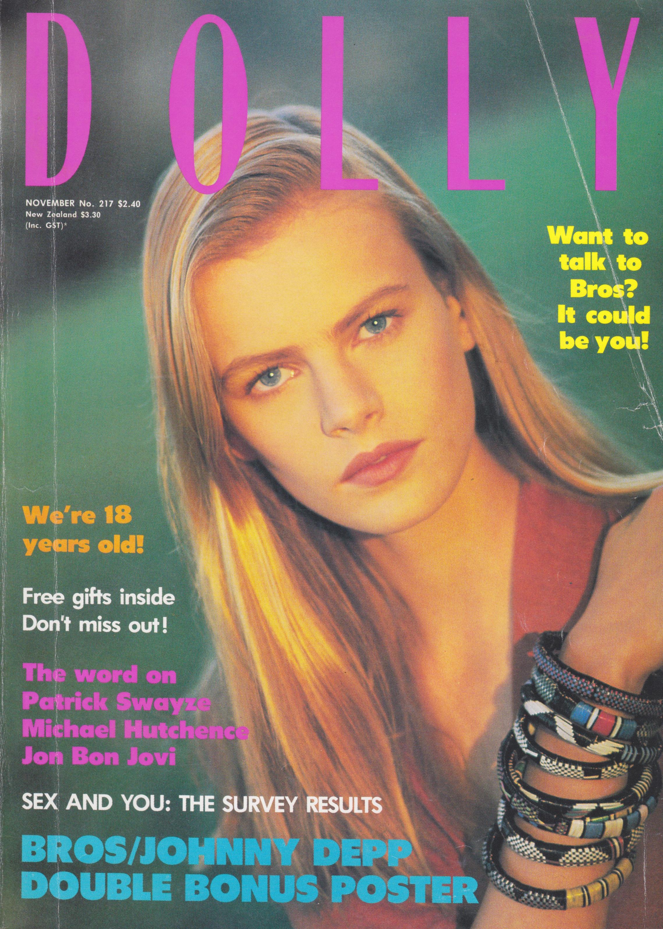 Dolly Magazine November 1988   Emma Balfour