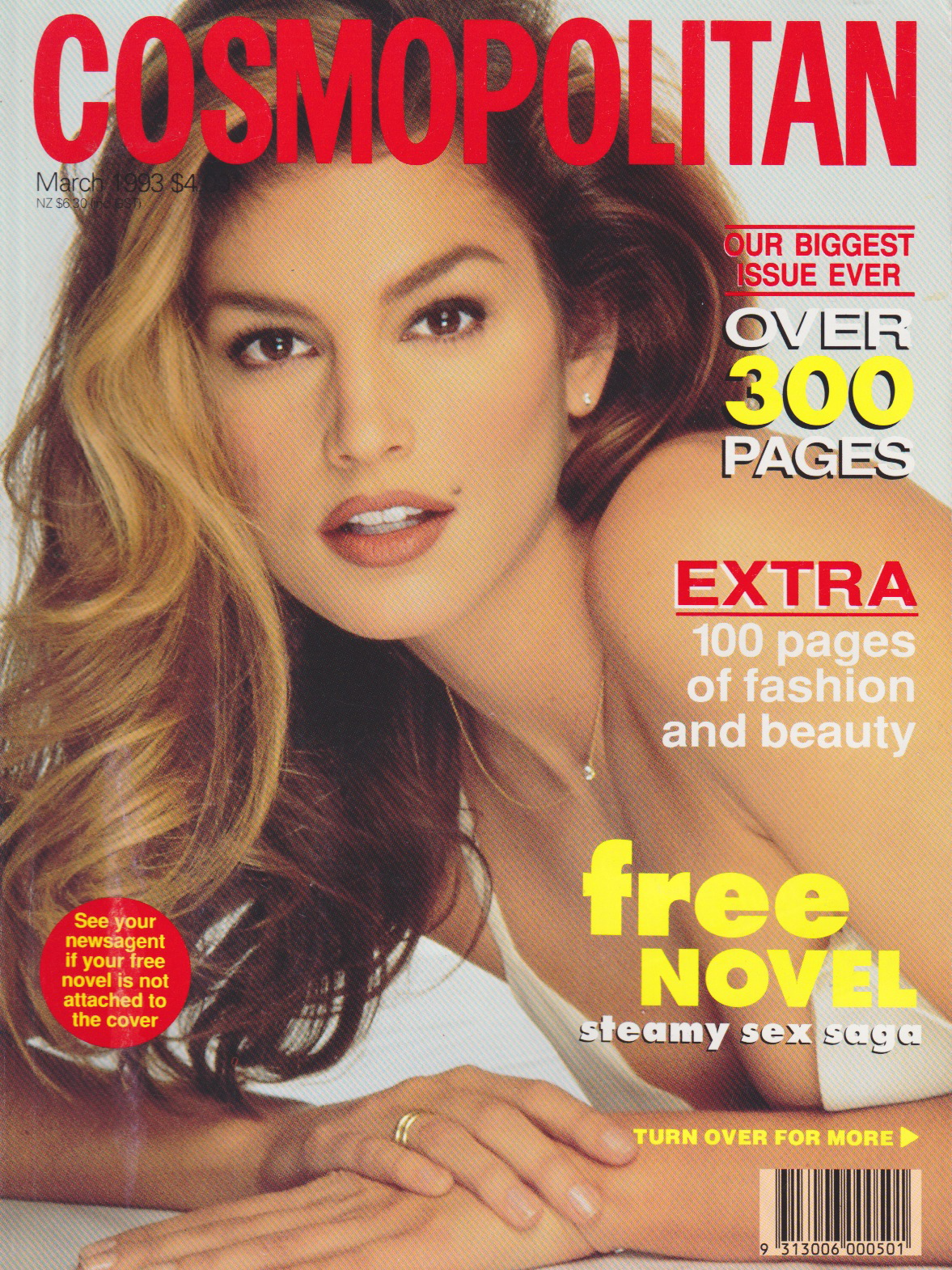 Cosmopolitan (Australia) March 1993 | Cindy Crawford