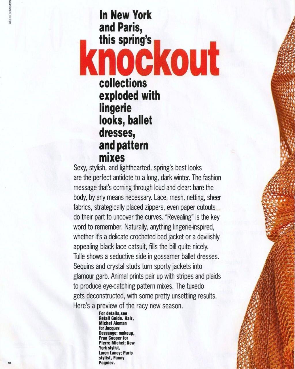 Elle (US) February 1992 | Knockout 01.jpg