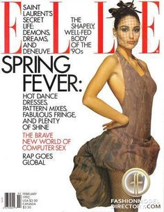 ELLE (US) February 1992 | Brenda Schad Cover