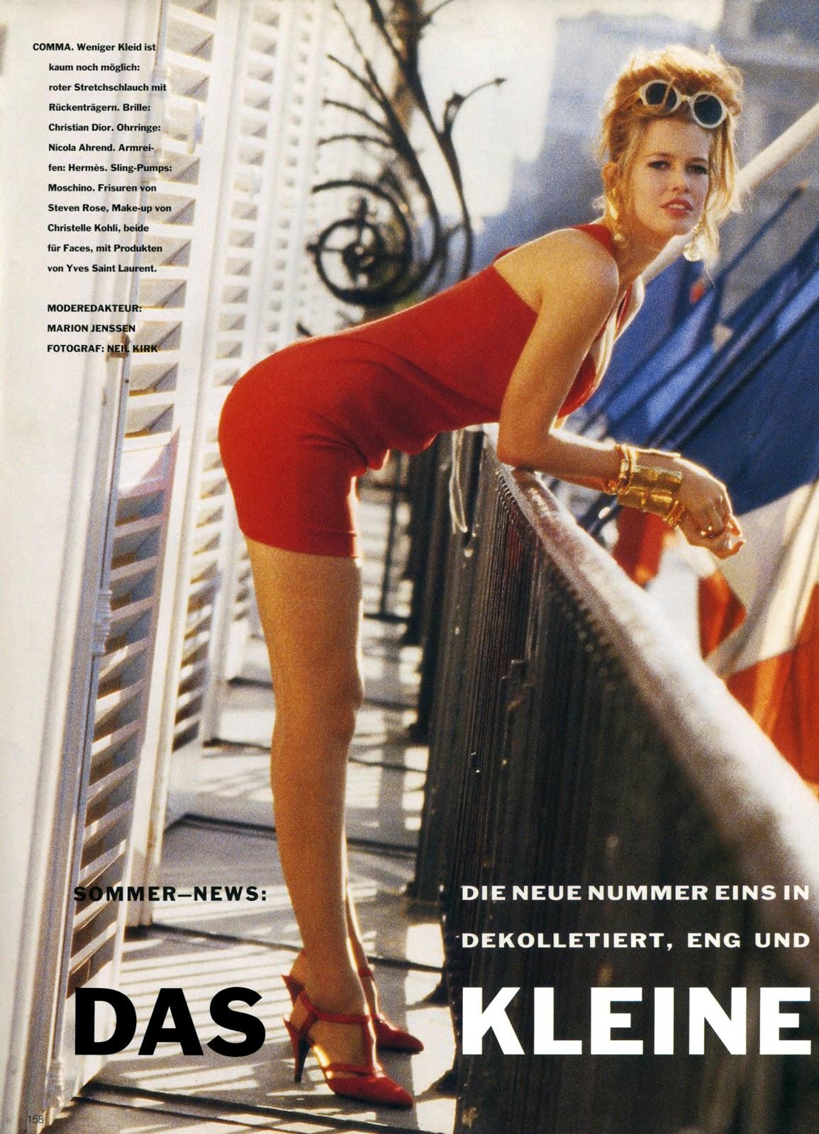Vogue (Germany) January 1991 | Das Kleine 01.jpg