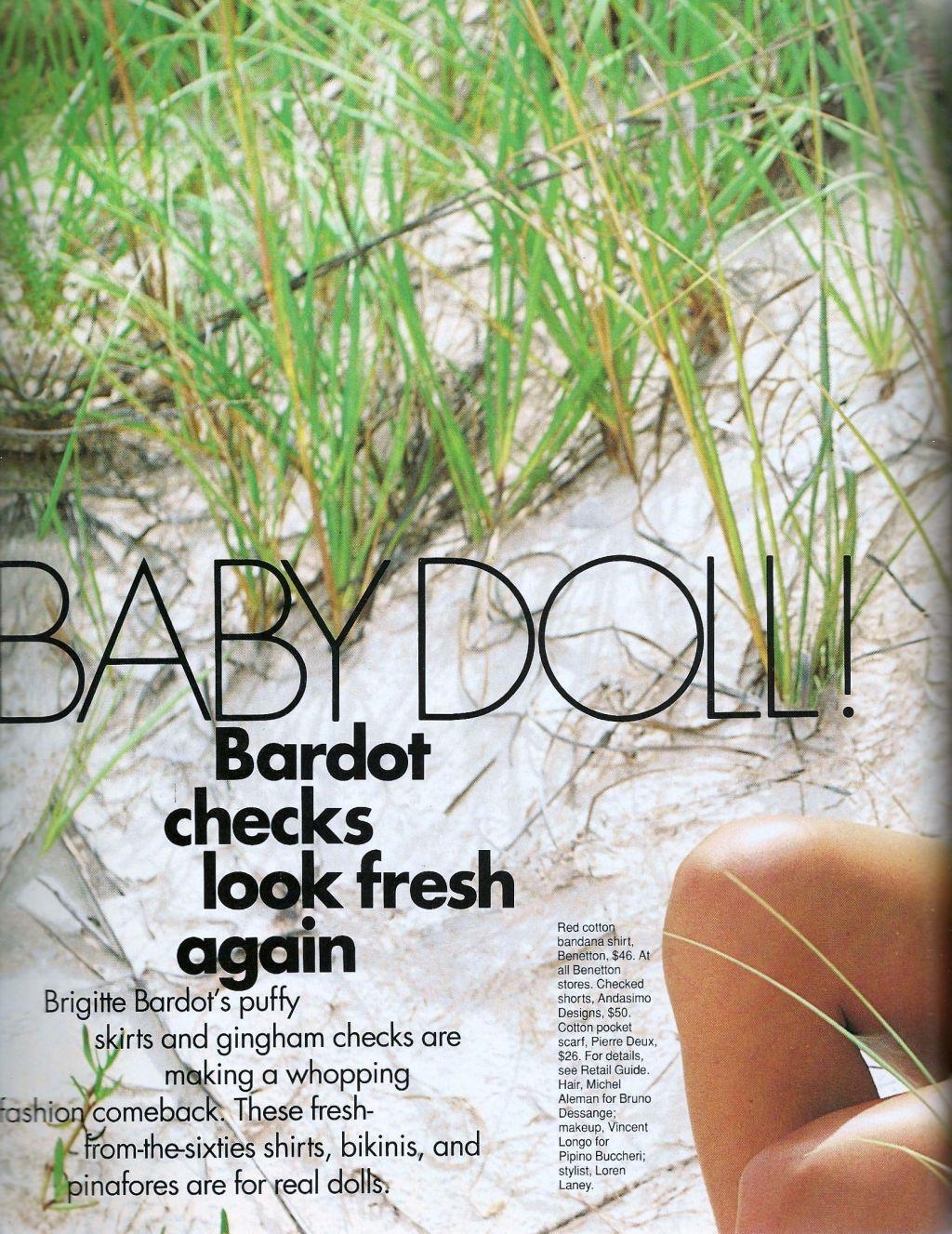 Elle (US) January 1991 | Baby Doll 01.jpg