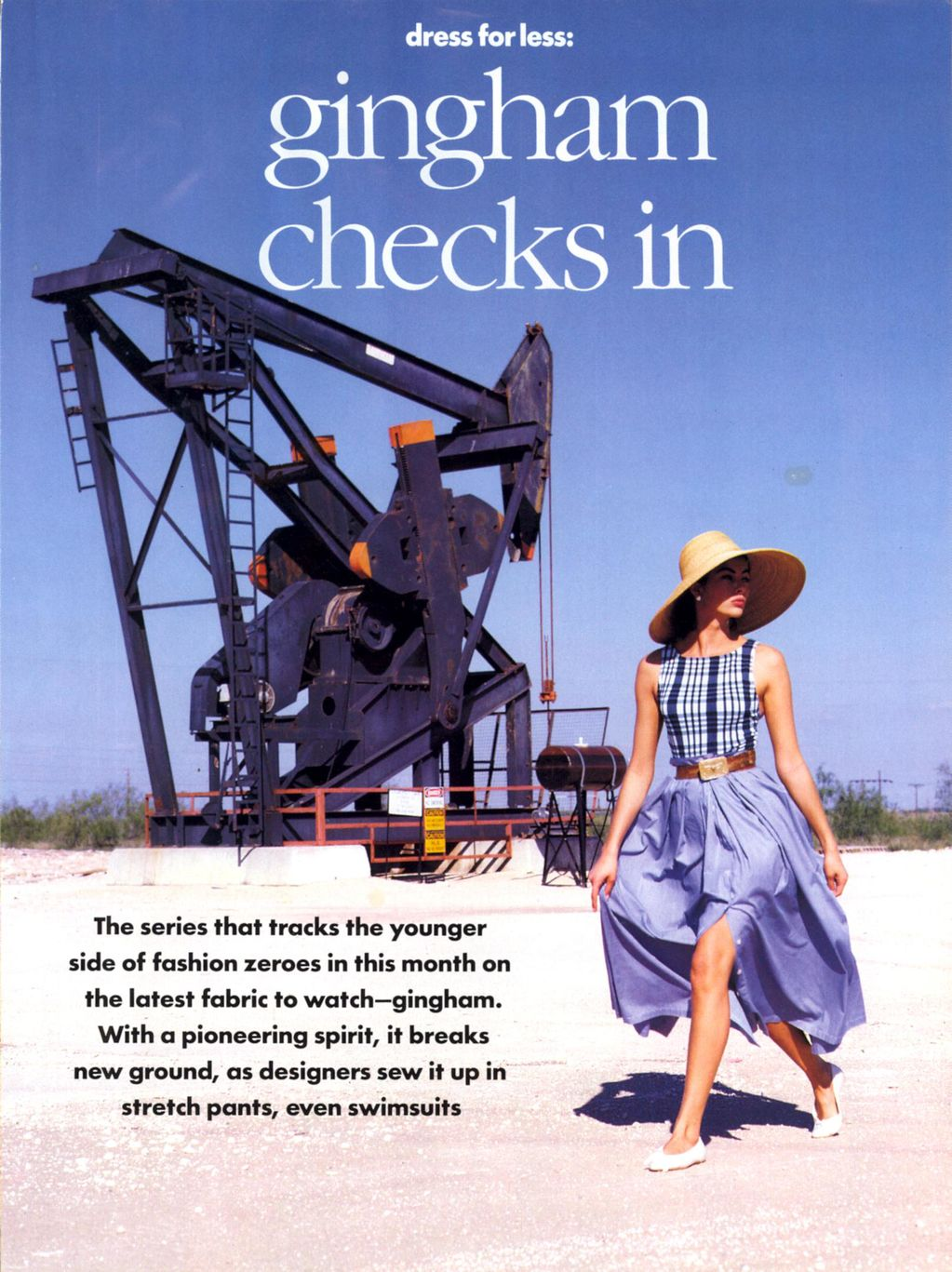Vogue (US) January 1991 | Dress For Less - ingham Checks In 02.jpg