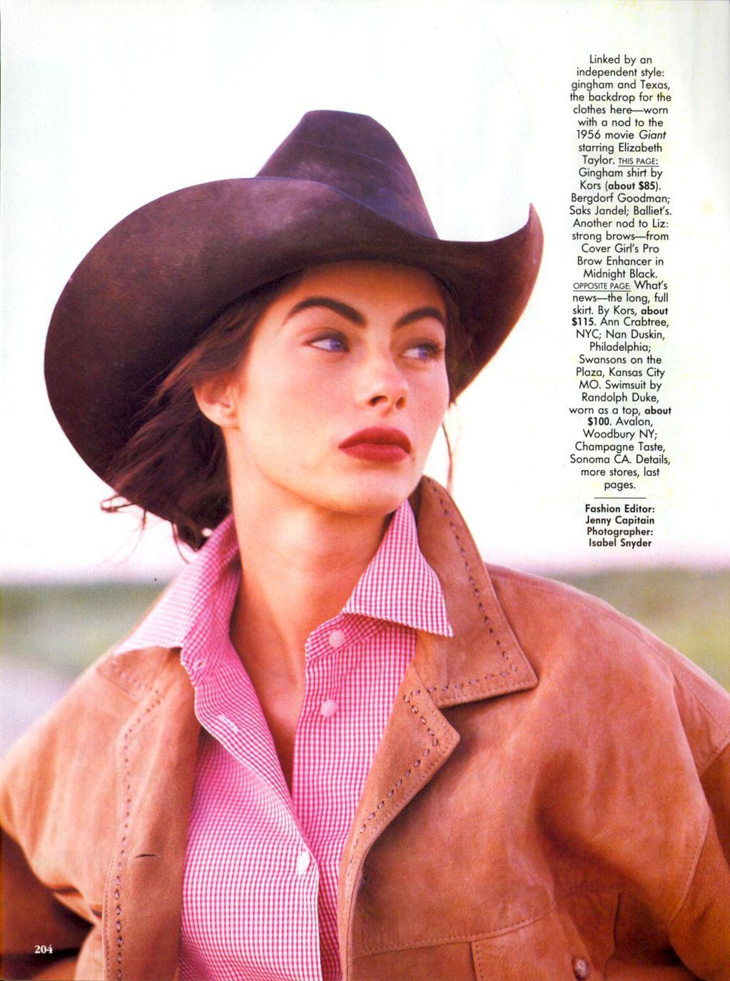 Vogue (US) January 1991 | Dress For Less - ingham Checks In 01.jpg