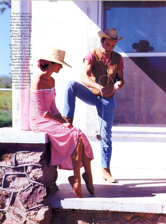Vogue (US) January 1991 | Dress For Less - ingham Checks In 05.jpg