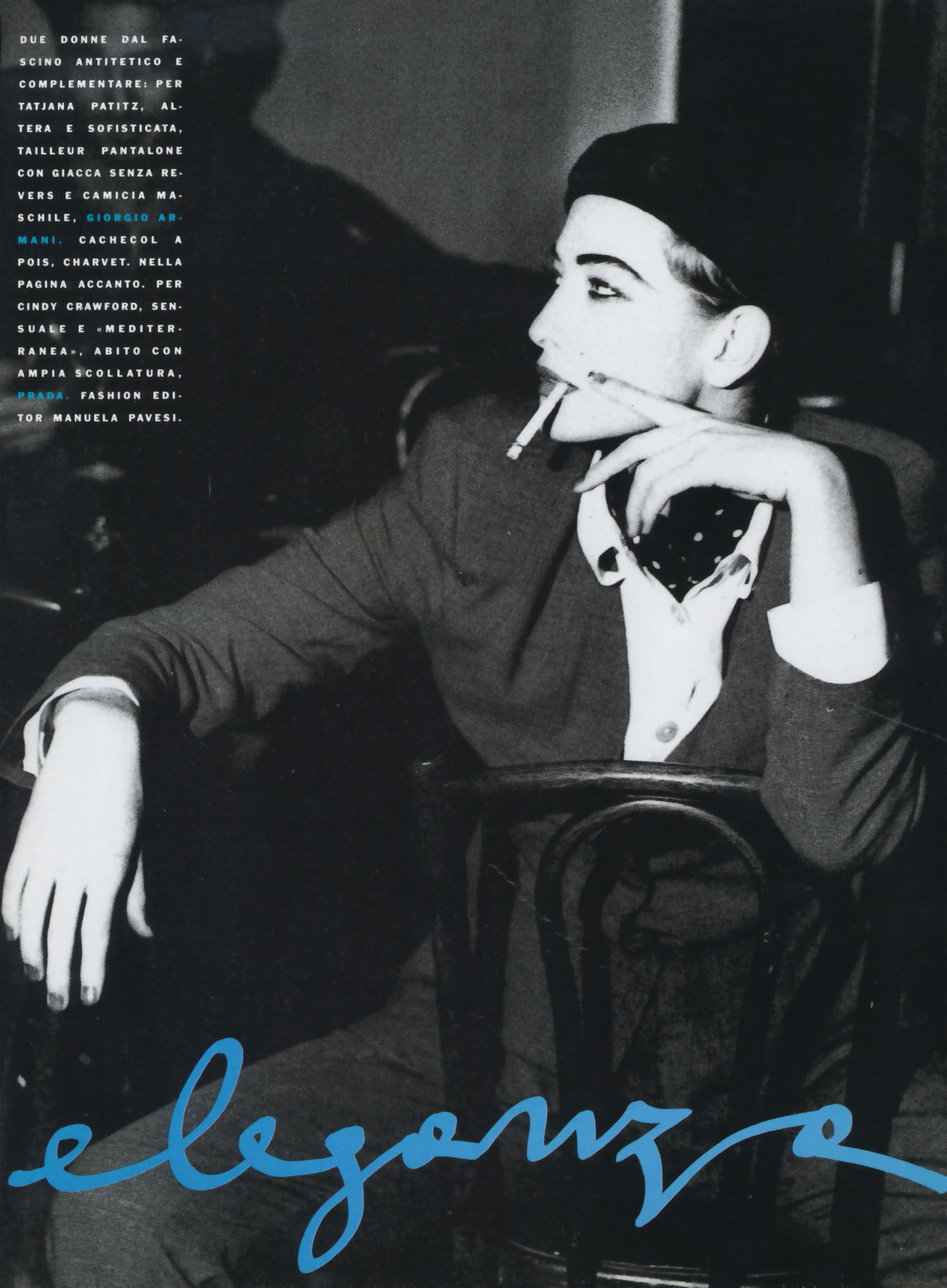 Vogue (Italia) January 1991 | Cindy Crawford & Tatjana Patitz 02.jpg