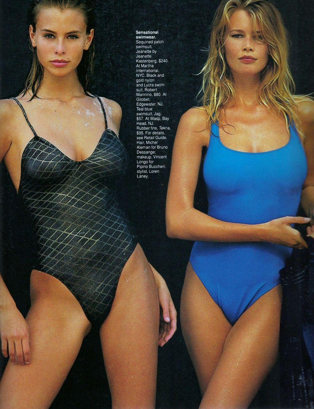 Elle (US) January 1991 | Shine 02.jpg