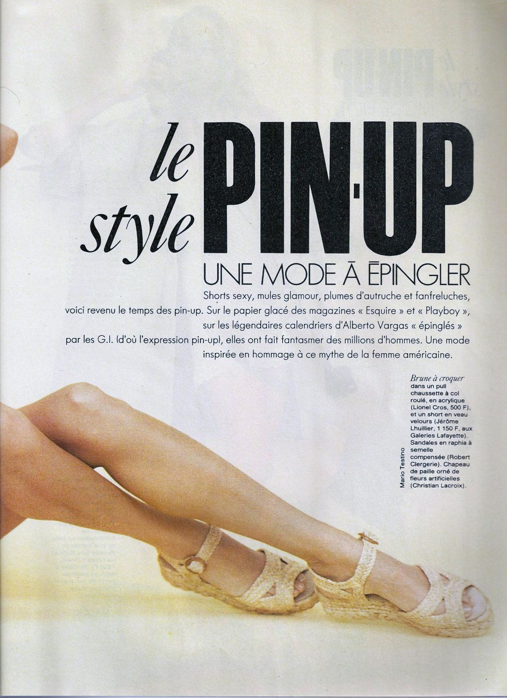 Elle (France) January 1991 | Le Pin-up Style 02.jpg