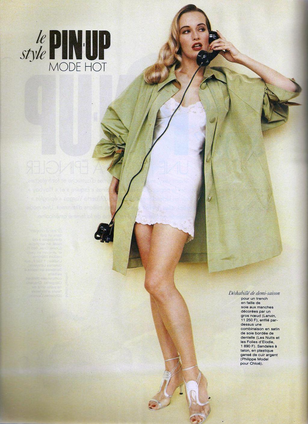Elle (France) January 1991 | Le Pin-up Style 03.jpg