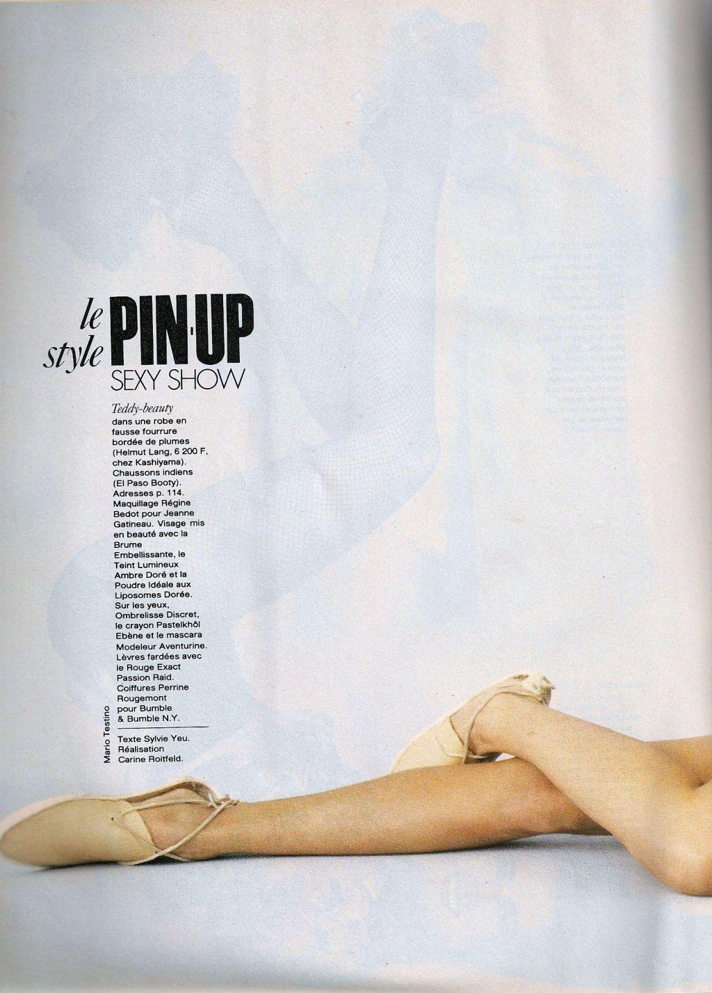 Elle (France) January 1991 | Le Pin-up Style 05.jpg